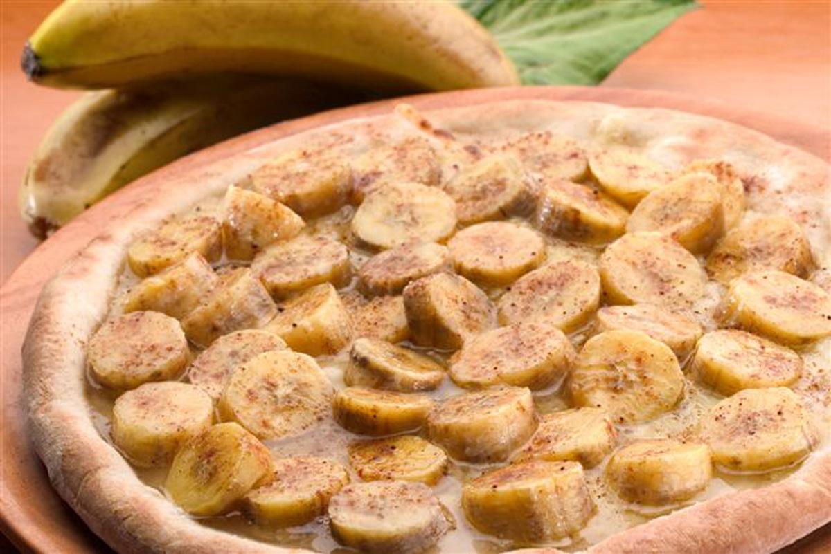 Pizza de Banana Com Canela Abacaxi Banana Com Canela